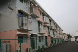 坂茂氏設計のコンテナ仮設住宅(女川町)